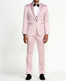 Men's Solid Sharkskin 3-Piece Slim Fit Suit