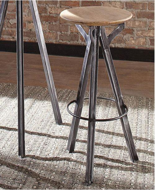 Coaster Home Furnishings Calisto Round Base Bar Stool Antique