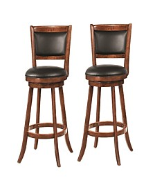 "Antony 29"" Swivel Bar Stools with Upholstered Seat (Set of 2)"