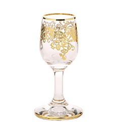 Classic Touch Liqueur Glasses with 24K Rich Gold Design, Set of 6