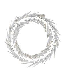 Laddies White Metal Wreath