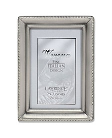 """Lawrence Frames Antique Pewter Picture Frame - Beaded Edge Design - 2"""" x 3"""""""