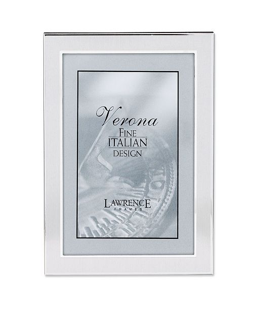 "Lawrence Frames Brushed Silver Metal Picture Frame - 4"" x 6"""