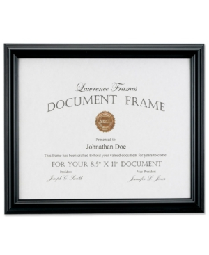 "Lawrence Frames 185081 Black Document Picture Frame - 8.5"" x 11"""