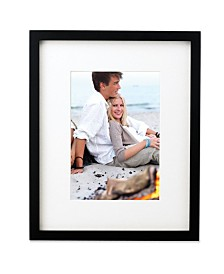 """Lawrence Frames Black Wood 11""""x13"""" Picture Frame Matted To - 8"""" x 10"""""""
