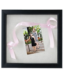 "Lawrence Frames Black Shadow Box Frame - Linen Inner Display Board - 12"" x 12"""
