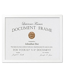 "White Wood Certificate Picture Frame - Gallery Collection - 8.5"" x 11"""