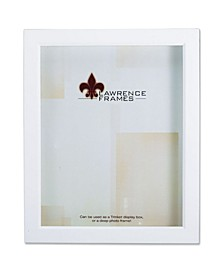 "795280 White Wood Treasure Box Shadow Box Picture Frame - 8"" x 10"""