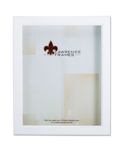 """Lawrence Frames 795280 White Wood Treasure Box Shadow Box Picture Frame - 8"""" x 10"""""""