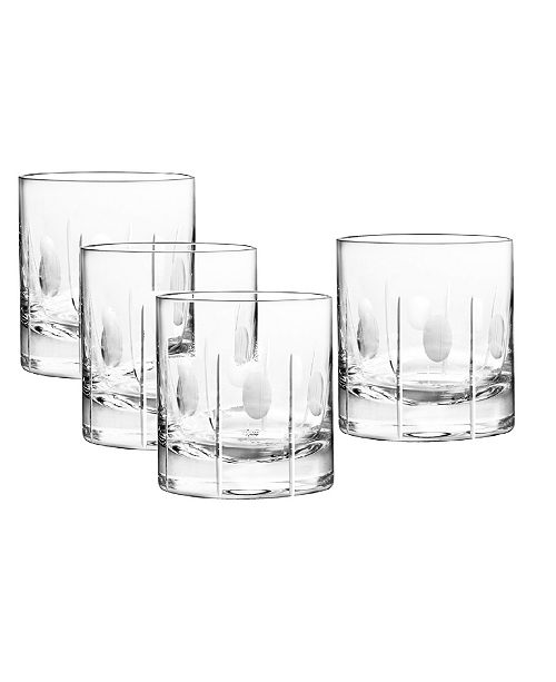 Qualia Glass Gulfstream Double Old Fashioned Glasses, Set Of 4