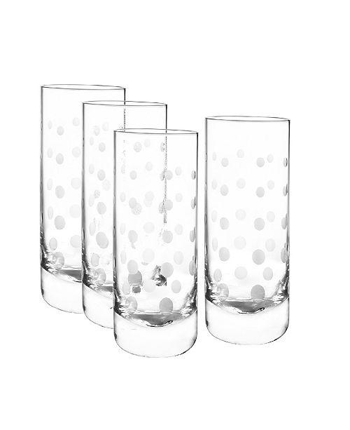 Qualia Glass Galaxy Highball Glasses, Set Of 4