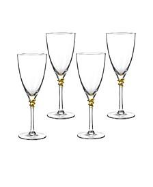 Helix Gold Wine Glasses, Set Of 4