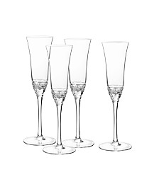 Qualia Glass Reef Flutes, Set Of 4