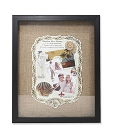 "Black Front Hinged Shadow Box Frame - Burlap Display Board - 11"" x 14"""