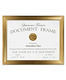 "Sutter Burnished Gold Picture Frame - 8.5"" x 11"""