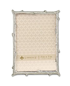 """Silver Metal Picture Frame with Natural Branch Design - 5"""" x 7"""""""