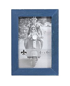 """Charlotte Weathered Navy Blue Wood Picture Frame - 4"""" x 6"""""""
