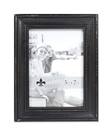 """Lawrence Frames Durham Weathered Black Wood Picture Frame - 5"""" x 7"""""""