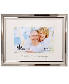 """Lawrence Frames Silver Metal Picture Frame - 25Th Anniversary - 4"""" x 6"""""""