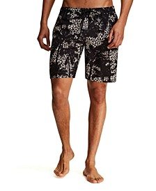 Men's Modern-Fit Leopard Tree Swim Trunks