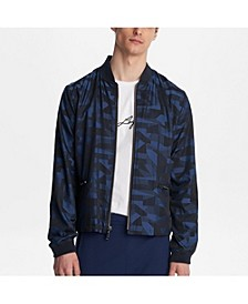 Paris Geometric Printed Bomber Jacket