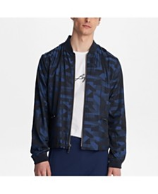 Karl Lagerfeld Paris Geometric Printed Bomber Jacket