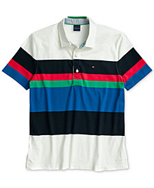Tommy Hilfiger Adaptive Men's Gabe Classic-Fit Rugby Polo Shirt with Magnetic Closure