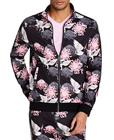 Tallia Men's Slim-Fit Stretch Floral Track Jacket