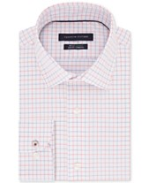 2669ddb8 Tommy Hilfiger Men's Slim-Fit TH Flex Non-Iron Supima® Stretch Check Dress