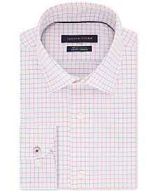 Tommy Hilfiger Men's Slim-Fit TH Flex Non-Iron Supima® Stretch Check Dress Shirt