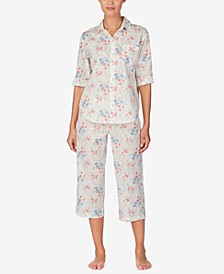 Top and Capri Pants Cotton Pajama Set