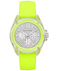 Michael Kors Women's Wren Neon Yellow Silicone Strap Watch 42mm