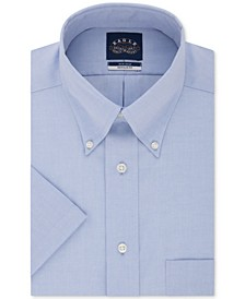 Men's Classic/Regular Fit Non-Iron Flex Collar Solid Short Sleeve Dress Shirt