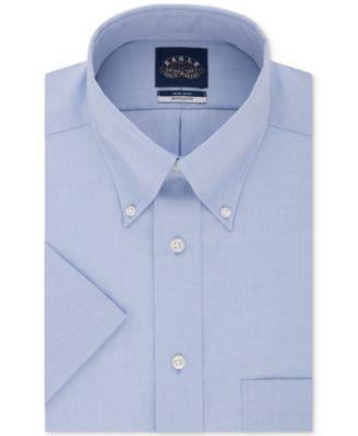 eagle men\u0027s shirts macy\u0027seagle men\u0027s classic regular fit non iron flex collar solid short sleeve dress shirt