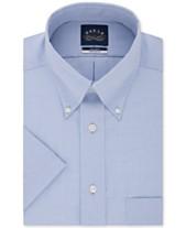 ee426ce637 Eagle Men's Classic/Regular Fit Non-Iron Flex Collar Solid Short Sleeve  Dress Shirt
