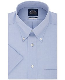 Eagle Men's Classic/Regular Fit Non-Iron Flex Collar Solid Short Sleeve Dress Shirt