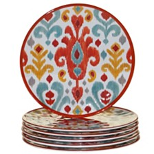 Certified International Bali Melamine 6-Pc. Salad Plate Set