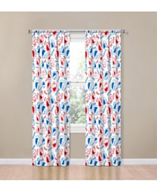 "Sesame Street Elmo Cookie Squares 84"" Drapes"