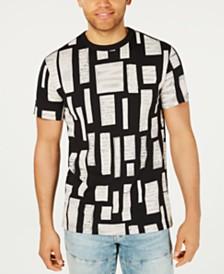 G-Star RAW Men's Geometric Text Print T-Shirt, Created for Macy's