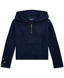 Polo Ralph Lauren Big Girls French Terry Half-Zip Hoodie
