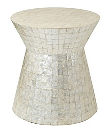 Rossville Capiz Accent Table