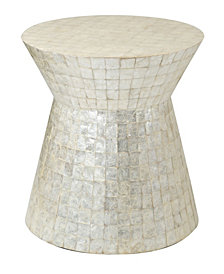 East At Main's Rossville Capiz Accent Table
