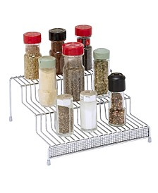 Kitchen Details 3 Tier Spice Rack Shelf Organizer in Pave Diamond Design