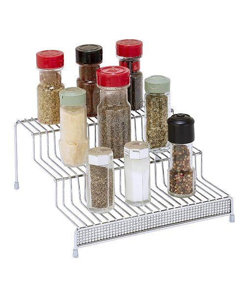 Kitchen Details 3 Tier Spice Rack Shelf Organizer in Pave Diamond Design