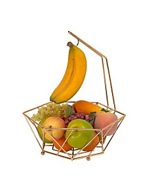 Kitchen Details Geode Fruit Basket with Banana Tree