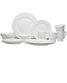 Vanilla Swirl Bone China 16-piece Set