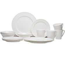 Red Vanilla Vanilla Swirl Bone China 16-piece Set