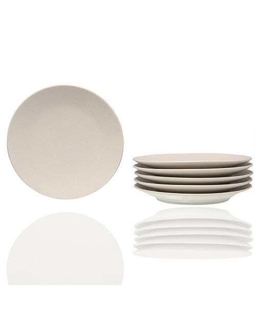 """Red Vanilla Matrix Bread And Butter Plate 6.25"""", Set of 6"""