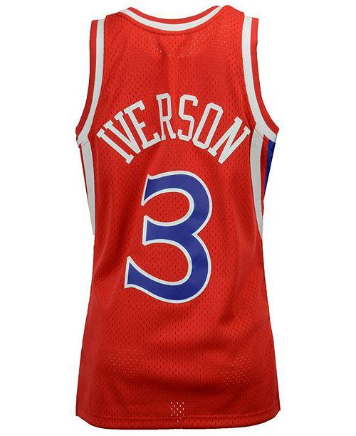 online retailer 5260c 43ca1 Big Boys Allen Iverson Philadelphia 76ers Hardwood Classic Swingman Jersey
