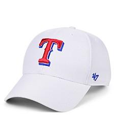 '47 Brand Texas Rangers White MVP Cap